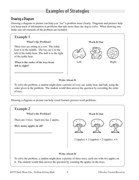 Printable Problem Solving Worksheets by Problem Solving In Grade 1 Lesupercoin Printables Worksheets