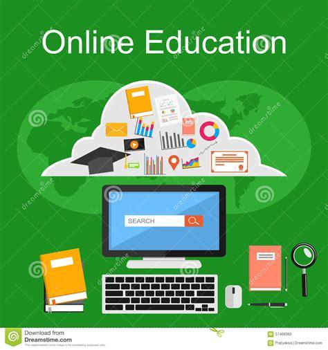 Tutorial Online Learning | online education illustration flat design illustration