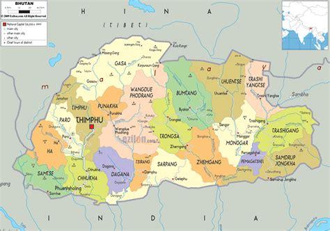 political map of china ezilon maps detailed political map of bhutan ezilon maps