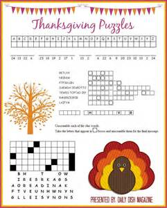 thanksgiving crossword puzzles printable free thanksgiving puzzles printable festively fall