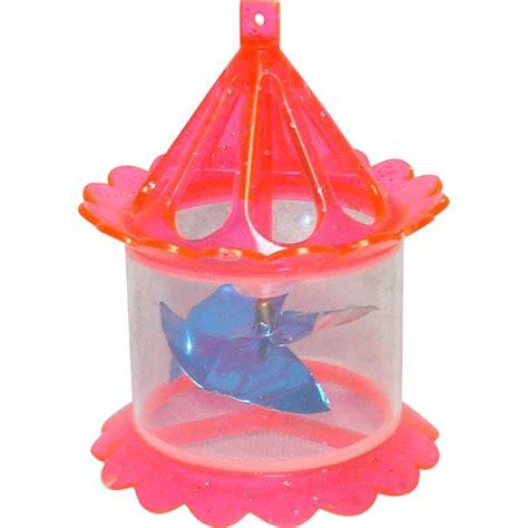 1950s twinkler pink plastic birdcage spinner christmas