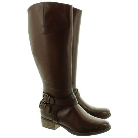 knee boots tamaris 25525 buckle knee boots in brown in brown