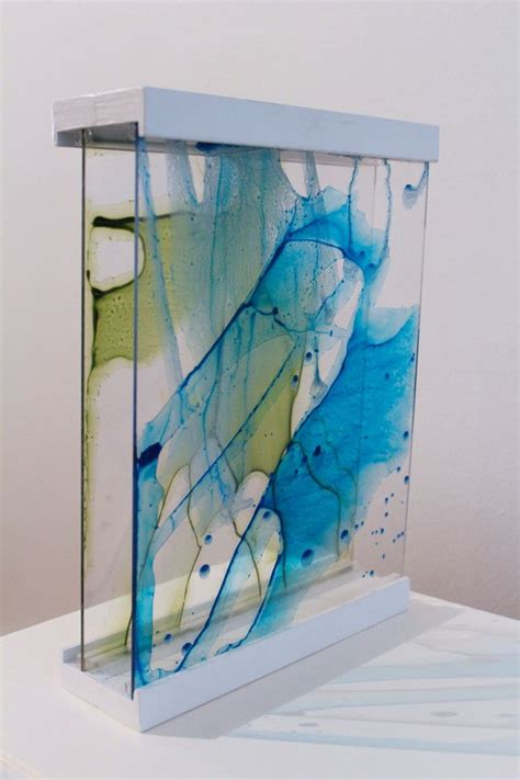 glass acrylic painting painted plexiglass art the one below is included in the