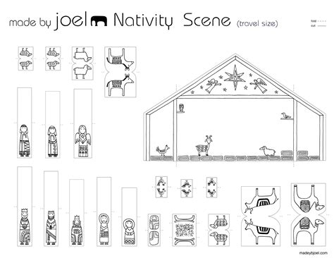 manger template printable nativity template vianoce