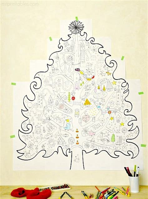 Christmas Coloring Pages Giant Tree Bozaround Tree Coloring ñ A4 22 Pages