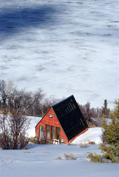 Frozen Cabin by Tiny Cabin On A Frozen Lake Photograph Lost Photo