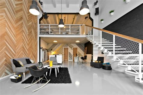 Black And White Bedroom dekorama loft studio by inarch vilnius lithuania