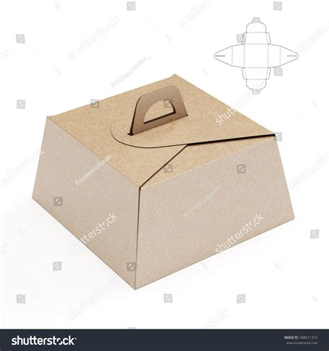 how to make a cake box template birthday cake box handle die cut stock illustration