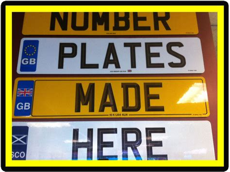 design your own number plates and show plate use your own