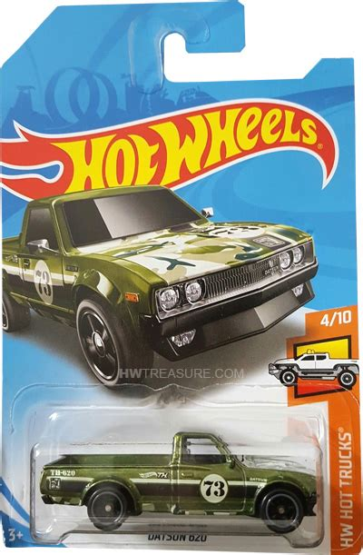 Hotwheels Datsun Green datsun 620 wheels 2018 treasure hunt hwtreasure
