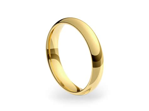 18ct yellow gold 4mm medium court wedding ring bands of