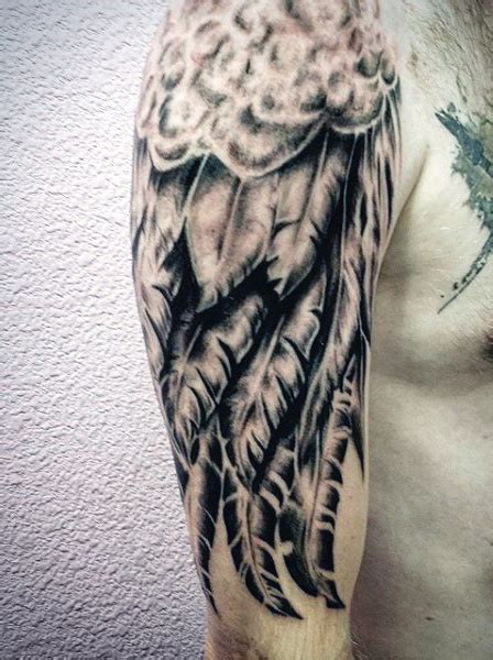 angel tattoo half sleeve designs top 100 best wing tattoos for men designs that elevate