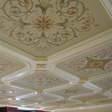 Ceiling Stencils Designs by 17 Best Images About Hermitage Acanthus Coffer Stencil On