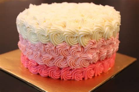 Cake Icing by Bluepandacakes Rainbow Cake With Ombre Buttercream Frosting