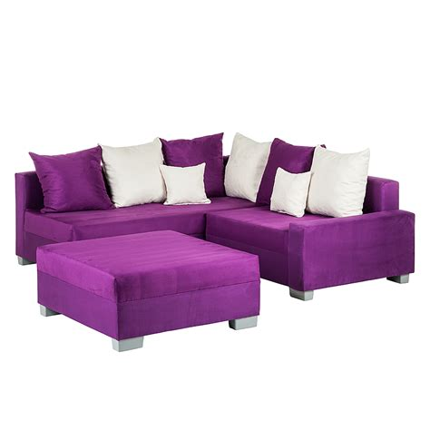Sofa Mit Ecke by Ecksofa Hocker Lila Ottomane Links Schlafsofa Sofa