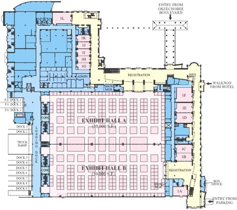 palm beach county convention center floor plans west