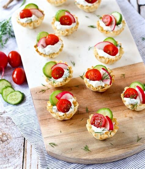 easy appetizers spring herb cream cheese appetizer cups recipe