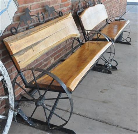 wagon wheel bench wagon wheel bench 1 artistic seating on waymarking com