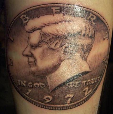 jfk tattoo f kennedy 50 cent half dollar coin by oyabun keith