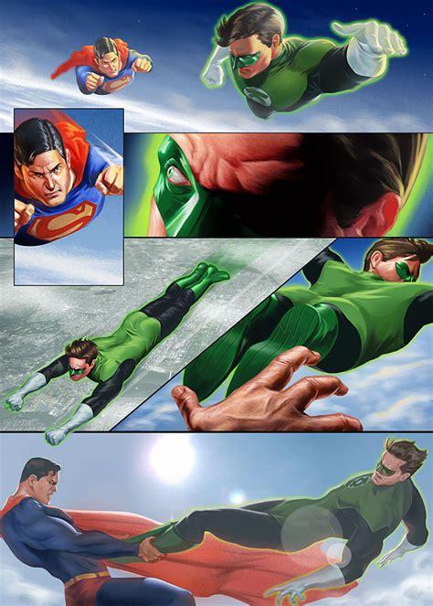 superman vs green lantern by joetromundo on deviantart