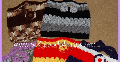 crochet pattern bag lady posh pooch designs dog clothes lady s tote purse crochet