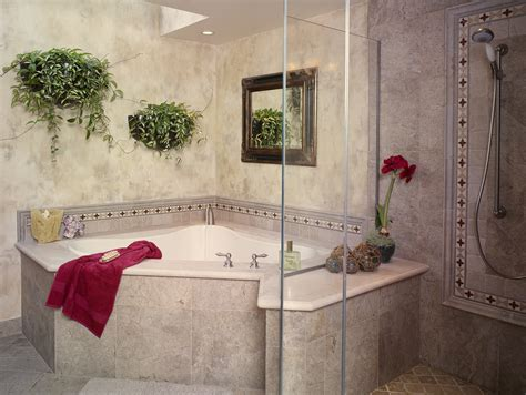 Corner Tub Bathroom Ideas by Corner Tub Shower When You Need An All On One Solution
