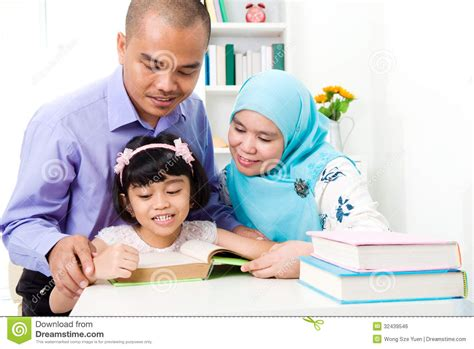 Mother Daughter House Plans muslim family reading royalty free stock image image