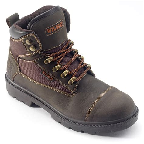 brown wildcat jaguar safety boot safetec direct