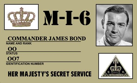 007 Id Card Template by Props Replica Props Bond Whith Connery