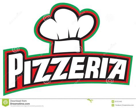 pizzeria label design stock photo image 25707440