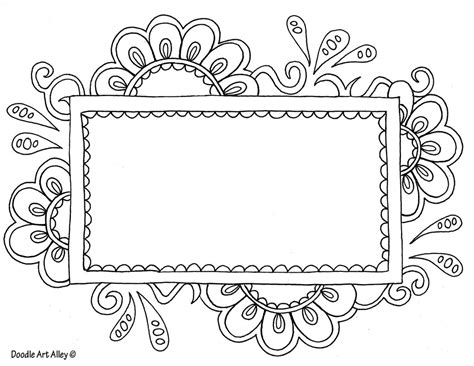 Doodle Template name templates coloring pages doodle alley