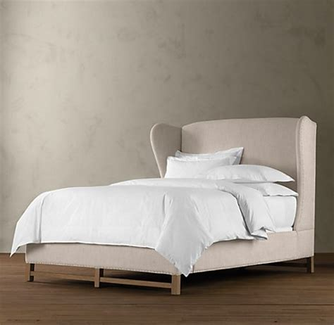 restoration hardware french wing upholstered bed dream