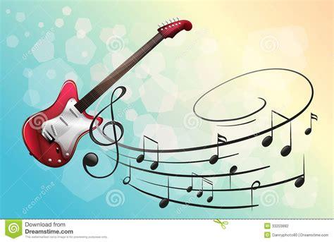 imagenes con videos musicales una guitarra el 233 ctrica roja con las notas musicales