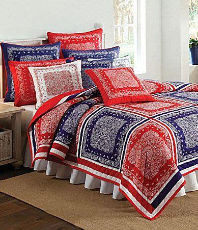 bandana bed sheets bandana quilt nobility quot bandana quot red blue quilt collection dillards com