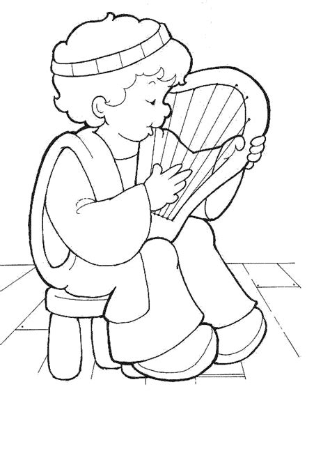 coloring page of king david in the bible david coloring pages david bible printables king david
