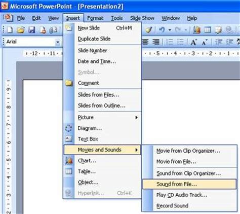 audio format in ppt adding sound to powerpoint
