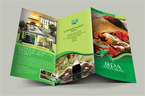 leaflet design definition spa natural 3fold brochures brochure templates on