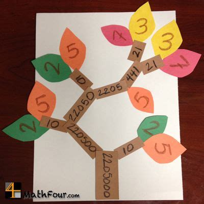 math craft projects fall factor trees math crafts math and factors