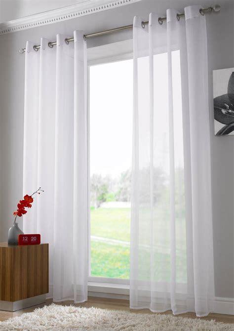 plain white eyelet curtains white plain voile eyelet ringtop panel net curtain 2