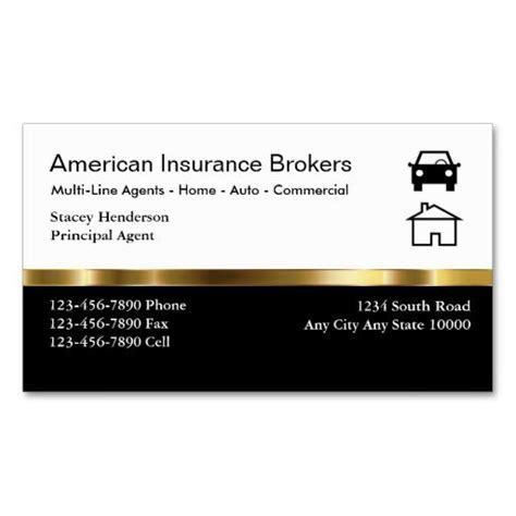 Professional Business Card Template For Insurance Broker With Photo by 197 Best Images About Auto Business Cards On