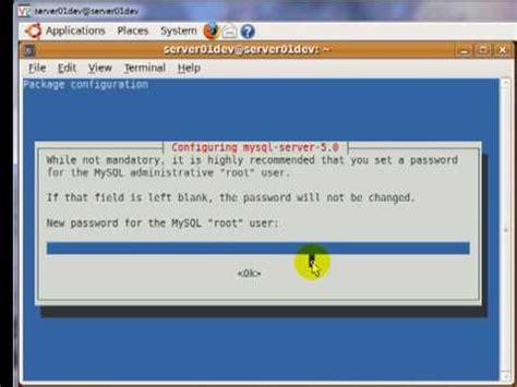 install mysql ubuntu tutorial how to install apache2 mysql and php5 in ubuntu 9 04