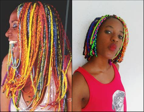 braids with color multi colored box braids www pixshark images