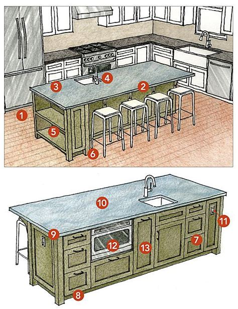 how to build a kitchen island with seating best 25 kitchens with islands ideas on