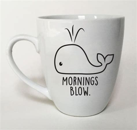 cute cup designs whale mug mornings blow valentines day gift idea