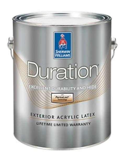 duration 174 exterior acrylic coating homeowners sherwin williams