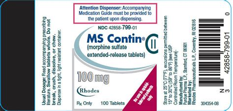 Herbal Remedies For Ms Cotin Detox by Ndc 42858 515 Ms Contin Morphine Sulfate