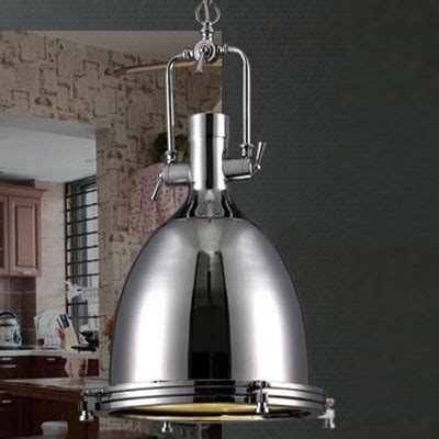 industrial style pendant light industrial style 1 light large pendant in polished nickel