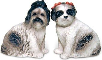 shih tzu salt and pepper shih tzu salt pepper shaker set pacific trading oldies
