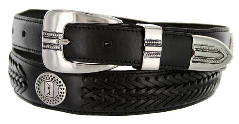 2662500 pga tour s braided leather golf conchos belt