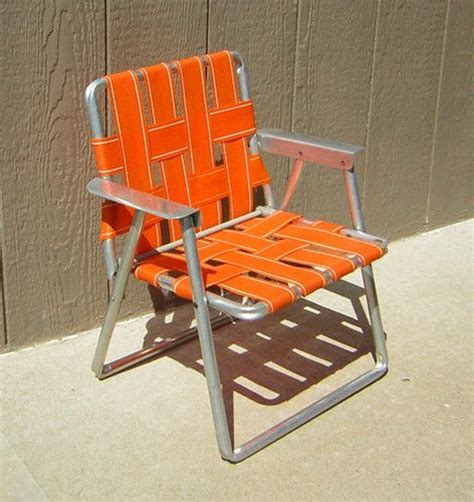 Toddler Lawn Chair by Vintage Aluminum Frame Folding Childs Lawn Chair